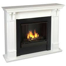 decor real flame ashley 48 in gel fuel fireplace in white for