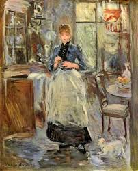 Impressionist Art - Berthe morisot in the dining room