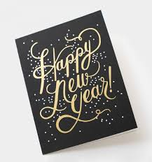 shimmering new year greeting card by rifle paper co made in usa
