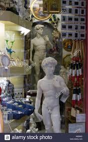 michelangelo s david reproductions of michelangelo u0027s david in a souvenir shop florence