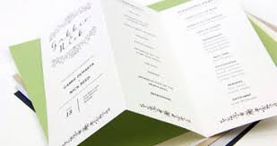 folded wedding program wedding ceremony programs stationery to design print make your own