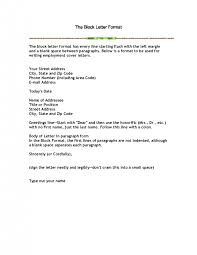 cover letter block format cover letter format block style