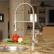 pull kitchen faucets stainless steel fontaine lnf rspk ss residential pull kitchen faucet