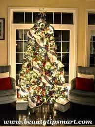 tree decorating ideas with ribbon and mesh professionally