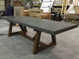 concrete top dining table concrete look dining table dining room ideas