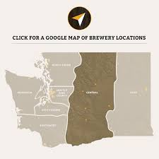seattle map by county washington breweries