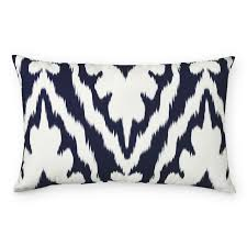 outdoor printed tropez ikat lumbar pillow navy williams