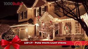c9 christmas light strings christmas lite co 819016 pure white led c9 christmas string light