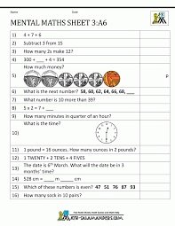 Free Algebra 2 Worksheets Stunning Printable Mental Maths Year 2 Worksheets 7 Photocito