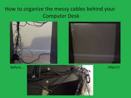how to organize cables under desk organize your messy computer deck cables and wires youtube