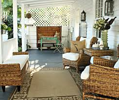 front porch furniture beach style with beadboard american flags