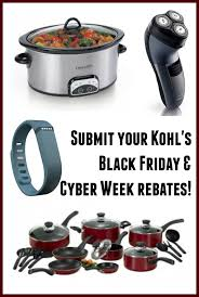 black friday kohls 2014 kohl u0027s rebates kitchenaid crockpot cuisinart more
