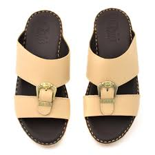 bige color buy online men arabic slippers series traditional beige color