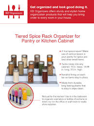 kitchen cabinets for office use amazon com kd organizers tiered spice rack organizer for pantry