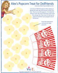 march craft for girls u2013alex u0027s popcorn treat for dollfriends via e
