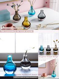 Colored Bud Vases Amazon Com Casamotion Hand Blown Art Solid Color Glass Bud Vase