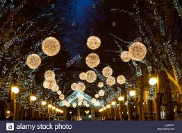 Christmas Light Balls For Trees by Christmas Decorations In Street Luminous Balls Lights Hanging