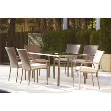 Teak Wood Outdoor Dining Tables Round Teak Outdoor Dining Table - 7 piece outdoor dining set with round table