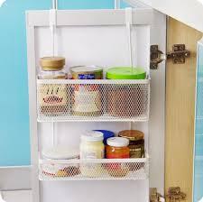 Cabinet Door Organizer Seamless Hanging Basket Kitchen Cabinet Door After Storage Rack