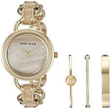 anne klein bracelet set images Anne klein women 39 s ak 2750lpst gold tone and tan jpg
