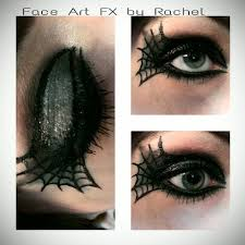 Spider Makeup Halloween by Green And Black Spider Web Beauty Eye Makeup By Paintedpassion99