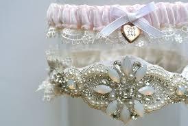 garters for wedding a vintage locket opal wedding garter for la gartier