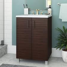 Walnut Bathroom Vanity Walnut Vanity Concrete Wayfair
