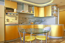 kitchen simple and bright kitchen with light blue paint also