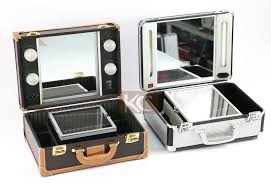 makeup luggage with lights lighting cosmetic case with mirrior professional makeup case with