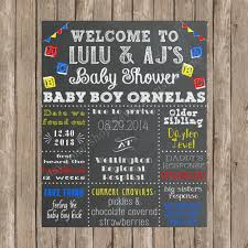 baby shower chalkboard to be chalkboard poster custom chalkboard baby shower