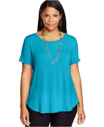 Plus Size Urban Clothes Alfani Plus Size High Low T Shirt In Blue Lyst