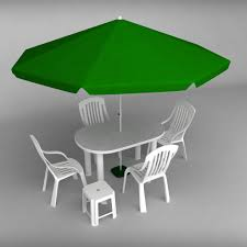 Plastic Garden Tables And Chairs Garden Plastic Furniture Set By Kr3atura 3docean