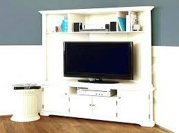 white corner television cabinet double wide tall mission media cabinet glass doors elegant corner