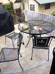 Remove Rust From Outdoor Furniture by Diy Spray Painted Patio Furniture More Like Madeline