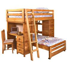 Twin Over Twin Bronco Loft Bed Nebraska Furniture Mart - Timber bunk bed
