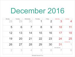 calendar 2016 and holidays