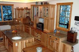 Stainless Cabinets Kitchen Knotty Hickory Kitchen Cabinets The Best Rustic Hickory Cabinets