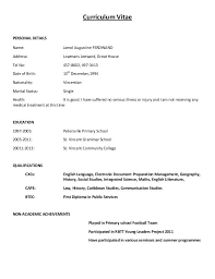 Example Of Simple Resume by Spelndid Example Of Simple Cv Stylish Resume Sample