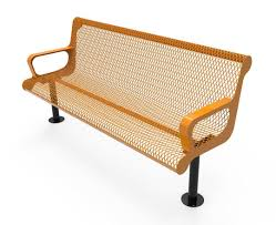 rhino quick ship 6 foot contour thermoplastic bench with back a