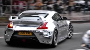 nissan fairlady 370z wallpaper chrome nissan 370z cruising the streets of london hd youtube