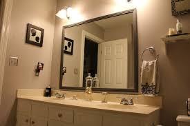 Oval Bathroom Mirror by Bathroom Elegant Bathroom Decor With Large Framed Bathroom