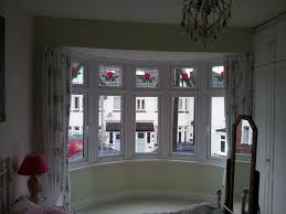 image of ideas bay window curtain rod
