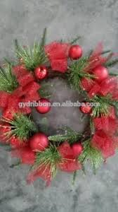 Artificial Pine Trees Home Decor Artificial Mesh Wreath 16 Inch Artificial Clematis Garland Red
