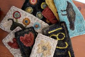 Primitive Hooked Rugs Using Beets To Dye Wool Fabric For Rug Hooking Dig For Your Dinner