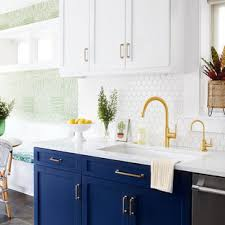 houzz blue kitchen cabinets 75 beautiful contemporary kitchen with blue cabinets