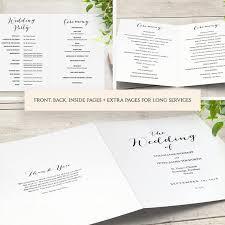 church wedding program template booklet wedding program template church order of service