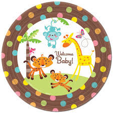 fisher price baby shower dinner plates 8