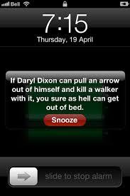 Iphone Alarm Meme - motivational memes daryl dixon the walking dead rachel tsoumbakos