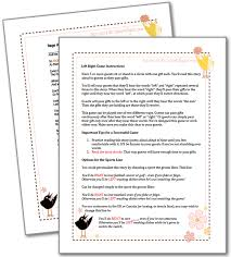 free printable bridal shower left right game left right bridal shower game bridal shower games printable party