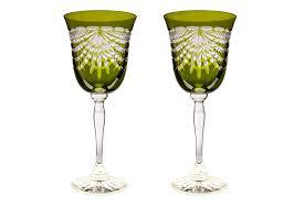 clarissa wine goblets coloured crystal wine glasses σερβιτσια